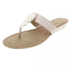 Alfani Fleurr Rose Gold Wedge Sandals 11M